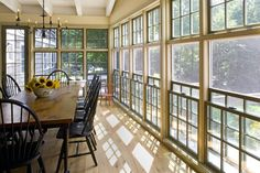 Screened In Porch Design, Pictures, Remodel, Decor and Ideas - page 10 Houzz Enclosed Porches, Screened In Porch, Front Porch, Sunroom Windows, Ceiling Windows, Sash Windows, Casement Windows, Three Season Porch, 3 Season Room