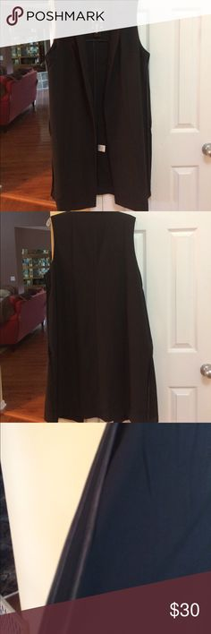 "Katia black long vest. 2XL. New with tags Katia ""A Bohemian Child"" long black vest. 2XL. New with tags Katia Tops"