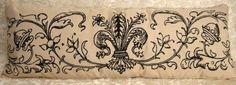 """Fleur de Lis Decorative Pillow Paris Chic French XL lumbar 36"""""""
