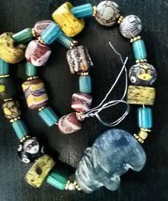 Rare Ancient Pyu animal glass bead ols by MetalPearlsFireStone