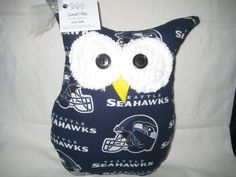 Hooters Stuffed Owl Pillow  featuring  Seattle by sweetpitas, $14.00