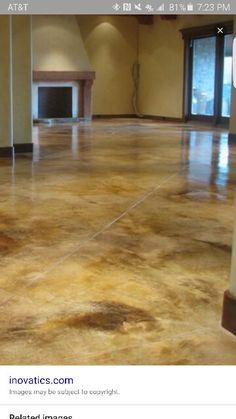 Beautiful acid stained concrete floor