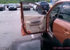 Jumping Inside A Car Fail
