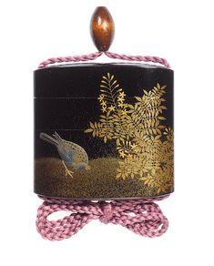 A black lacquer three-case inro By Koma Yasutada, century All Japanese, Turning Japanese, Japanese Beauty, Japanese Literature, All Craft, Small Art, Objet D'art, Decoration, Metal Working
