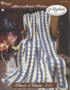 Wheels 'n Chains - Afghan Collector's Series - The Needlecraft Shop - Crochet Afghan Pattern, Mile-A-Minute, Home Decor, Blanket, Bedspread