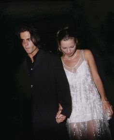 Johnny Depp + Kate Moss