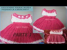 Vestidito en crochet( ganchillo )fácil para niña - YouTube