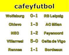 Café y Fútbol: Scores Sunday October 16th