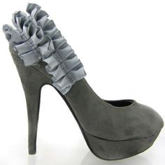 Show Story Sexy Grey Two Tone Frill Ruffle Platform High Heel Stiletto Pumps,FZ88820GY38,6US,Grey Show Story, To SEE or BUY just CLICK on AMAZON right HERE  http://www.amazon.com/dp/B00HGSD646/ref=cm_sw_r_pi_dp_TSrjtb1R0C650A9J