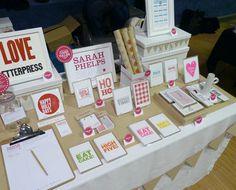 My first craft market table display! // Sarah Phelps Creative