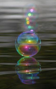 Bubble Shazam by Cathie Douglas - Rainbow Photos Bubbles Wallpaper, Rainbow Wallpaper, Wallpaper Backgrounds, Wallpapers, Splash Photography, Macro Photography, Amazing Photography, Bubble Photography, Abstract Photography