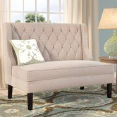 """Found it at Joss & Main - Banquette 52"""" Tufted Settee"""