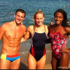 Ryan Lochte Jessica Hardy  and Simone Manuel Twitter / swimhardy: Ocean swimming ❤ @simone_manuel ...