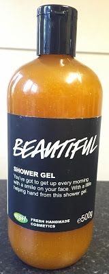 "Beautiful Shower Gel: ""You've got to get up every morning with a smile on your face. With a little helping hand from this shower gel"""