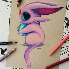 Espeon [done on strathmore toned tan paper using Prismacolors] espeon, cute, pokemon, prismacolor, prismacolors