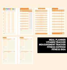 bullet journal ideas:  Fitness Planner Printable ▹ for who want to stay healthy and be active everyday! Printable PDF Files  This is COMPLETE planner for helping you
