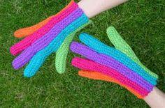 Patrones Crochet: Guantes de Crochet con un Dedo de Cada Color
