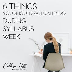 Take full advantage of Syllabus Week with College Hill's new blog!  Enjoy