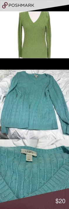 Ann Taylor sweater Soft blue sweater Ann Taylor Sweaters V-Necks