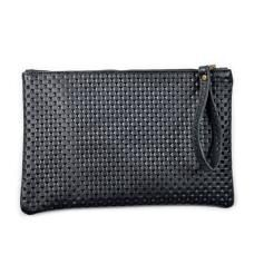 Leather Clutch- Black