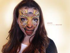 GIRAFFE Face Painting by Silvia Vitali