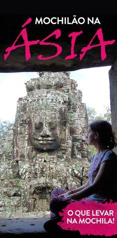 O que levar para um mochilão na Ásia! Tudo o que eu coloquei na mochila para uma viagem de 50 dias pelos países: Vietnã, Camboja, Tailândia, Malásia, Cingapura e Indonésia!