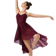 Shirred Sweetheart Camisole High-Low Dress- Balera..............I have this costume except in slate blue :)