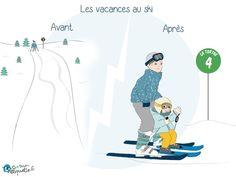 Les sports d'hiver en famille ? Adieu pistes noires adorées, bonjour le Club Piou-Piou ! Lol, Humor, Sports, Vacations, Parenting Humor, Infancy, Serenity, Hs Sports, Humour