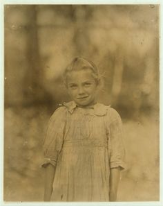 7-year old Rosie. Regular shucker. Her second year at it. Illiterate. Works all day. Shucks only a few pots a day. Varn & Platt Canning Co. Location: Bluffton, South Carolina.