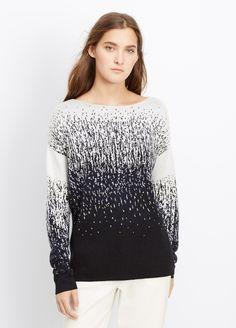 Ombré Jacquard Boatneck Sweater