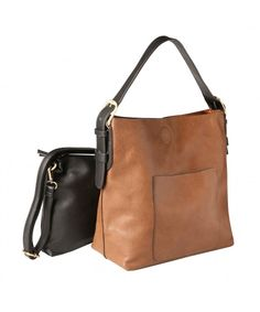 1bb377cab707 Women s Classic 2-In-1 Hobo Shoulder Bag and Small Clutch Purse - Vegan  Leather - Chestnut - CY188I6ORWN