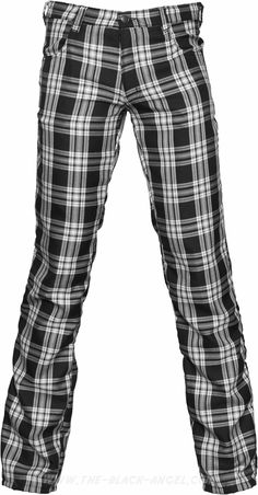 Gothic tartan pants for men, from the Black Pistol line of punk inspired clothing by Aderlass.