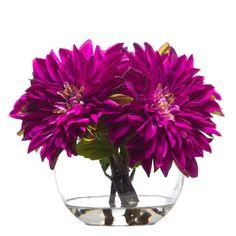 Faux Florals - Small Faux Dahlias Arrangement – Fuchsia