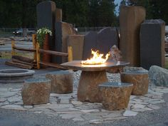 Looking for a unique way to incorporate seating into the landscape plans for your yard? Take a look at our stone seating idea gallery.
