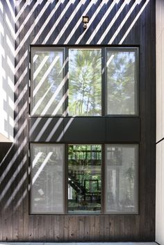 Brooklyn studio AlexAllen has revamped a home in New York State, trading its plywood siding for cement panels and blackened timber Decor Interior Design, Interior Decorating, Modern Interior, Electric Baseboard Heaters, Plywood Siding, New Paltz, Studios Architecture, New York Homes, Home Renovation