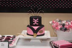 Pink power ranger fondant mini cake