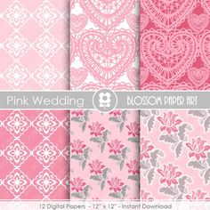 Papeles Decorativos Rosa y Gris Papeles Decorativos para