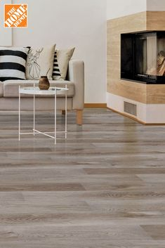 The Home Depot has the perfect vinyl flooring for your budget, in every style. Vinyl flooring is not only durable and trendy, but they can transform any room into your dream home. Interior Design Living Room, Living Room Decor, Bedroom Decor, Home Depot, Hardwood Floor Colors, Luxury Vinyl Flooring, Foyer Decorating, Decoration, Family Room