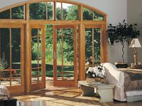 French Patio Doors French doors are a favorite as a hinged patio door option. The & frenchwood-hinged-patio-door-white-interior-hardware-in-distressed ...
