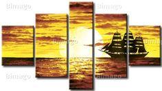 Wandbild: Einsamer Yacht