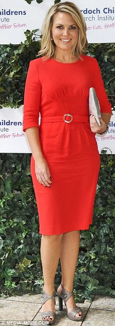 VIPs! Today presenter Georgie Gardner (left) stunned in a red dress at the charity party w... http://dailym.ai/Sgf90W#i-be5834c35a2a8c9