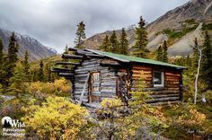 Trapper Cabin #2. An old abandoned cabin at Twin Lakes, Alaska. Photography by Joseph Classen.