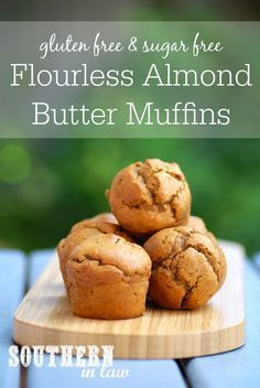 These Flourless Almond Butter Muffins have become a family favourite - and they are so healthy and easy to make! With just five ingredients, these muffins are gluten free, grain free, paleo, sugar free, low carb and absolutely delicious!
