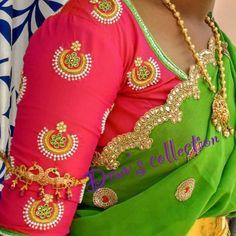 Wedding Saree Blouse Designs, Pattu Saree Blouse Designs, Fancy Blouse Designs, Blouse Neck Designs, Hand Work Blouse Design, Stylish Blouse Design, Maggam Work Designs, Designer Blouse Patterns, Sumo