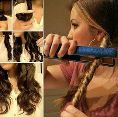 Flat Iron Hairstyles Tutorials And Tricks | Pinterest | Flat iron ...