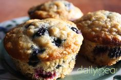 Organic Blueberry Oatmeal Muffins Lots of oats, apparently good for breast feeding mothers