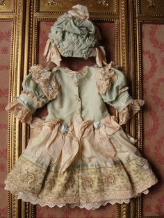 Wonderful antique costume for french or german bebes from les-fees-du-temps on Ruby Lane