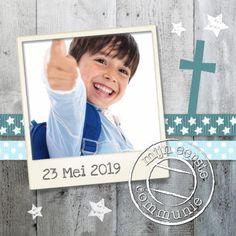 Communiekaart Jongen Hout Ster - Communiekaarten - Kaartje2go