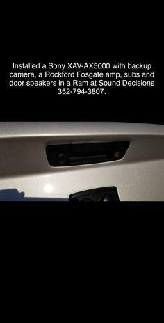 Ram Upgrade, Rockford Fosgate, Backup Camera, Speakers, Amp, Loudspeaker