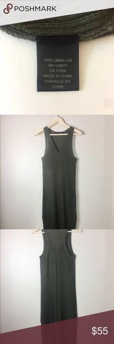 be431f3ccd6c5e 360 SWEATER Italian Yarn Dress Linen Maxi Size Sm 360 SWEATER Italian Yarn Dress  Size Small